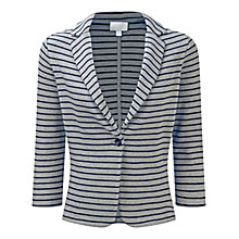 Buy Pure Collection Stripe Textured Jersey Cotton Blazer Online at johnlewis.com