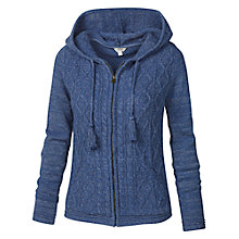 Buy Fat Face Dawlish Zipped Hooded Cardigan, Indigo Online at johnlewis.com