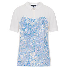 Buy French Connection Flight Of Fancy Shirt, White/Tampa Bay Multi Online at johnlewis.com