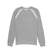 Buy Reiss Bellamy Flecked Sweatshirt, Grey Marl Online at johnlewis.com