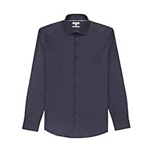 Buy Reiss Battersea Pin Dot Shirt, Navy Online at johnlewis.com