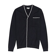 Buy Reiss Jules Piped Cotton Cardigan, Navy Online at johnlewis.com
