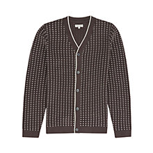 Buy Reiss Treble Textured Cardigan, Off Black Online at johnlewis.com