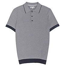 Buy Reiss Folio Geometric Knitted Short Sleeve Polo Shirt Online at johnlewis.com