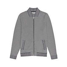 Buy Reiss Serona Jacquard Knitted Jacket, Grey Online at johnlewis.com