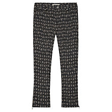 Buy Gerard Darel Animal Print Trousers, Black Online at johnlewis.com