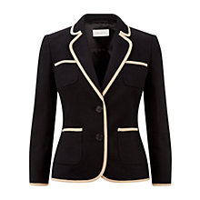 Buy Hobbs Salma Blazer, Black Stone Online at johnlewis.com