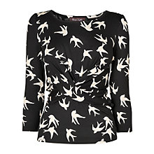 Buy Phase Eight Billie Bird Top, Black/Stone Online at johnlewis.com