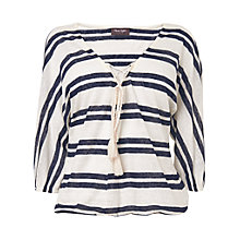 Buy Phase Eight Jenny Stripe Top, Navy/Ivory Online at johnlewis.com