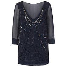 Buy French Connection Evissa Beaded Tunic Dress, Nocturnal Online at johnlewis.com
