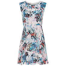 Buy French Connection Isla Ripple Flared Dress, Day Dream Multi Online at johnlewis.com