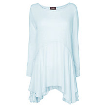 Buy Phase Eight Whitney Woven Hem Top, Pale Blue Online at johnlewis.com