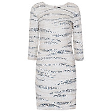 Buy French Connection Miami Sands Slash Neck Dress, Summer White Online at johnlewis.com