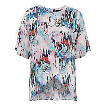 Buy French Connection Isla Ripple Tunic Top, Day Dream/Multi Online at johnlewis.com