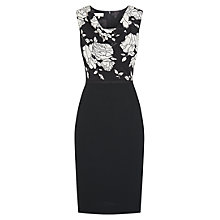 Buy Hobbs Karolina Rose Dress, Black Online at johnlewis.com
