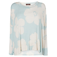 Buy Phase Eight Freya Print Top, Aqua Online at johnlewis.com