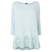 Buy Phase Eight Eloise Embroidered Top, Blue Online at johnlewis.com