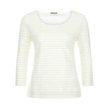 Buy Planet Striped Textured Top, Lemon Online at johnlewis.com