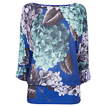 Buy Phase Eight Hana Floral Top, Blue Online at johnlewis.com