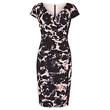 Buy Planet Printed Dress, Peach Online at johnlewis.com