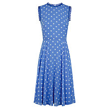 Buy Hobbs Priya Dress, Wedgwood Blue Ivory Online at johnlewis.com