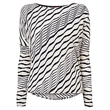 Buy Phase Eight Teresa Textured Stripe Top, Ivory/Navy Online at johnlewis.com