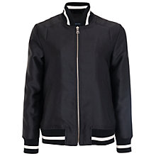Buy French Connection Dreams Are Free Bomber Jacket, Black Online at johnlewis.com