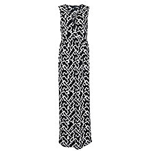 Buy French Connection Downtown Grid Maxi Dress, Black Multi Online at johnlewis.com