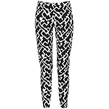 Buy French Connection Downtown Grid Pattern Trousers, Black/Summer White Online at johnlewis.com