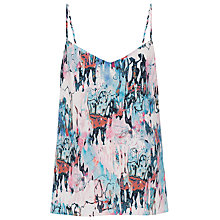 Buy French Connection Isla Ripple Strappy Top, Day Dream/Multi Online at johnlewis.com