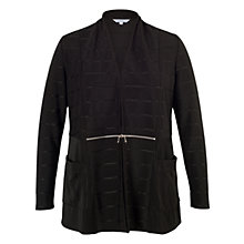 Buy Chesca Black Black Ottoman Self Stripe Zip Detail Shrug, Stone Online at johnlewis.com