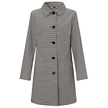 Buy Four Seasons A-Line Stripe Coat, Black Online at johnlewis.com
