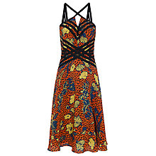 Buy French Connection Surf Island Strappy Silk Dress, Calypso Online at johnlewis.com