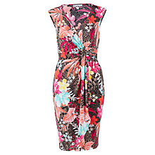Buy Gina Bacconi Tropical Print Jersey Dress, Fuchsia Online at johnlewis.com