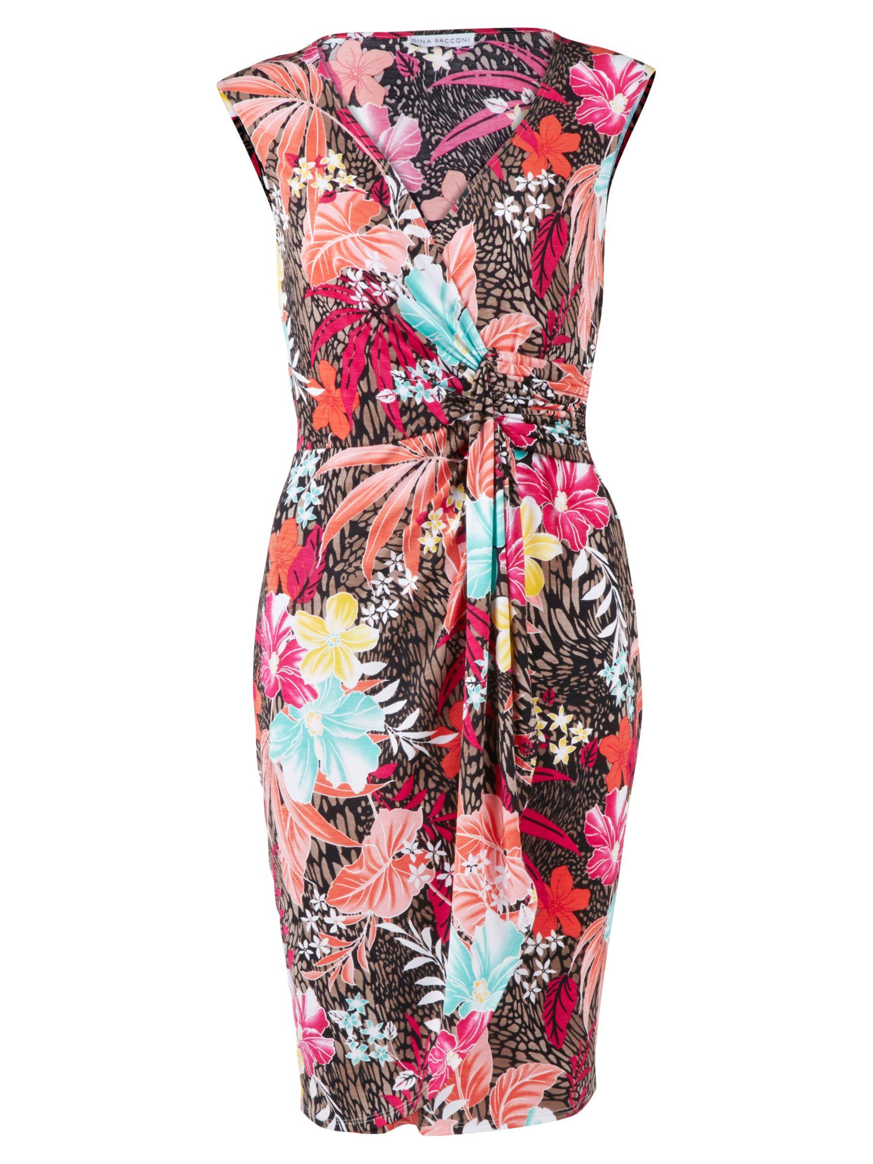 gina bacconi tropical print jersey dress fuchsia, gina, bacconi, tropical, print, jersey, dress, fuchsia, gina bacconi, 8 10 22 14 20 12 16 18, women, plus size, womens dresses, 1869847