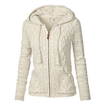 Buy Fat Face Alicia Cable Zip Thru Cardigan, Ivory Online at johnlewis.com