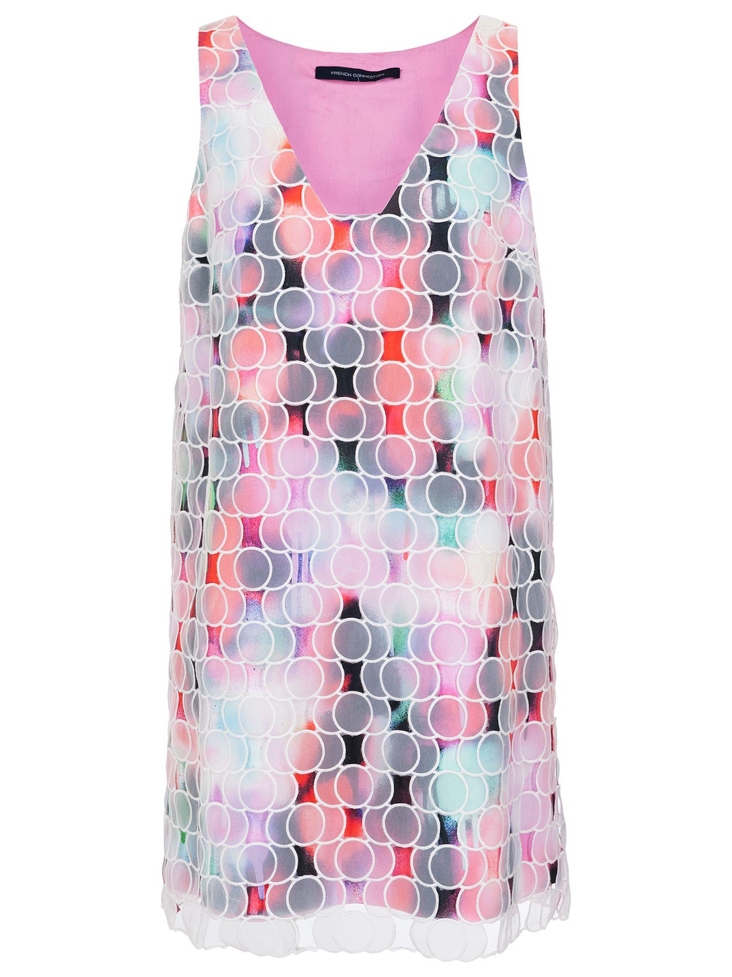french connection miami graffiti organza dress multi, french, connection, miami, graffiti, organza, dress, multi, french connection, 10 8 12 14 6 16, women, womens dresses, 1889466