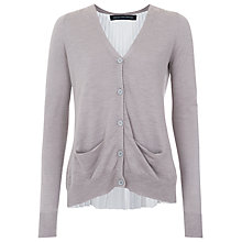 Buy French Connection Lilly Pleat Knit Cardigan, Light Grey Marl Online at johnlewis.com