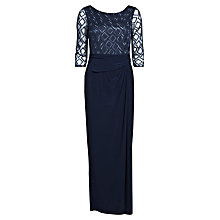 Buy Gina Bacconi Long Jersey Dress, Spring Navy Online at johnlewis.com