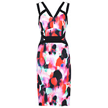 Buy French Connection Miami Graffiti Stripey Dress, Multi Online at johnlewis.com
