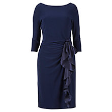 Buy Gina Bacconi Jersey Frill Dress, Lace Navy Online at johnlewis.com
