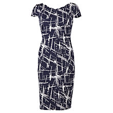 Buy Gina Bacconi Abstract Jacquard Dress, Navy Online at johnlewis.com