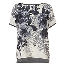 Buy Phase Eight Gainsborough Rose Top, Silver Online at johnlewis.com