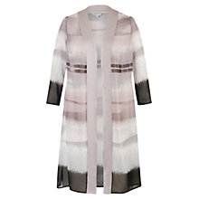 Buy Chesca Mink Satin Trim Coat, Beige Online at johnlewis.com