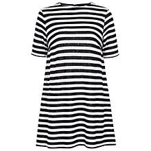 Buy French Connection Railroad Stars Dress, Black/White Online at johnlewis.com