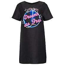Buy French Connection Dreams Are Free Shift Dress, Black Online at johnlewis.com