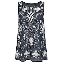 Buy French Connection Surf Island Sleeveless Silk Top, Nocturnal Online at johnlewis.com
