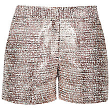 Buy French Connection Sunlight Shorts, Metallic Online at johnlewis.com