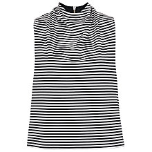 Buy French Connection Liquorice Lines Top, Summer White/Black Online at johnlewis.com