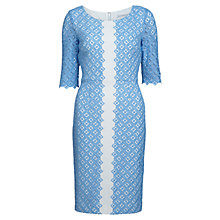 Buy Gina Bacconi Crepe Diamond Dress, Blue Online at johnlewis.com